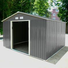 Abri de jardin en métal naterial lm 65 - Châlet, maison et cabane