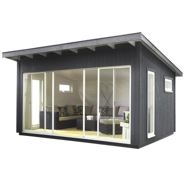Cabane jardin vitrée