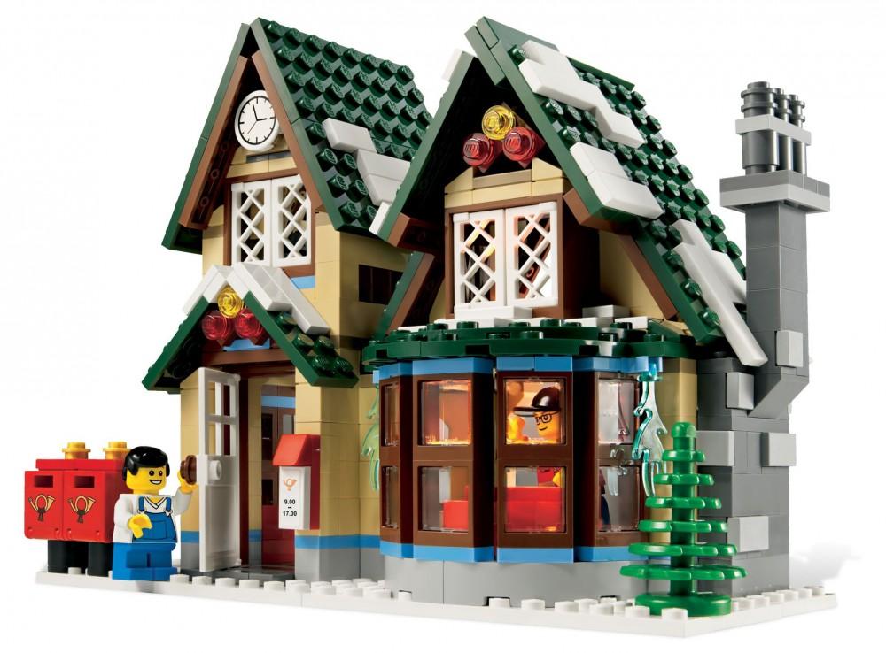 Cottage hiver lego