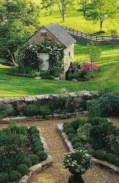 Cottage garden traduction