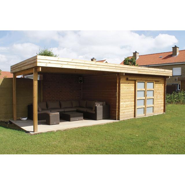 Abri jardin design toit plat - Châlet, maison et cabane