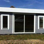 Abri jardin bois 20m2 toit plat