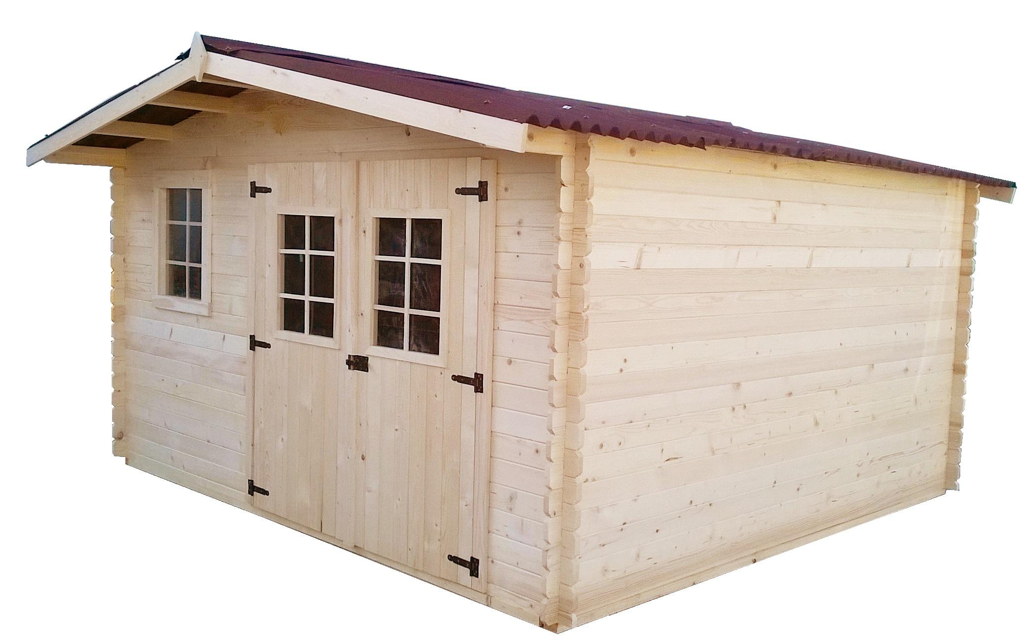 Abri de jardin bois moins de 5m2