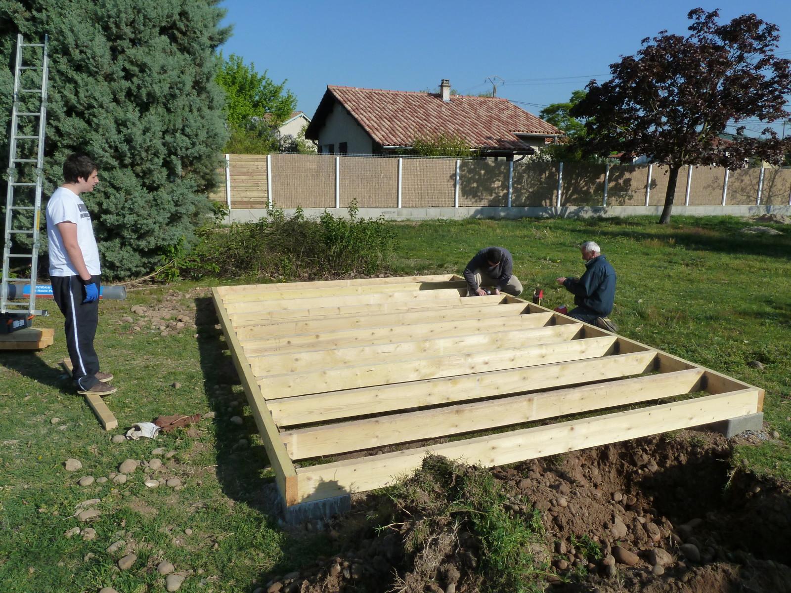 meilleur service d540c 4654e Abri jardin bois plancher - Châlet, maison et cabane