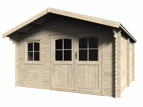 Abri de jardin en bois massif 34 mm - 11 04 m2