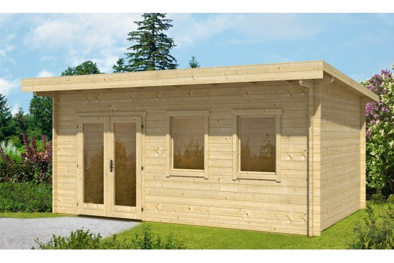 chalet de jardin 12m2 ch let maison et cabane. Black Bedroom Furniture Sets. Home Design Ideas