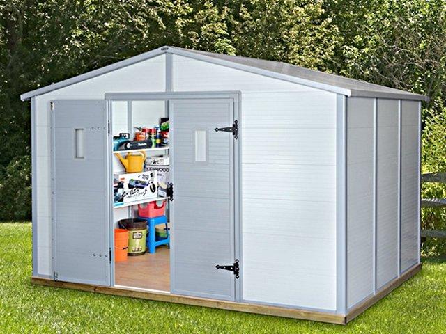 grand abri de jardin en pvc ch let maison et cabane. Black Bedroom Furniture Sets. Home Design Ideas