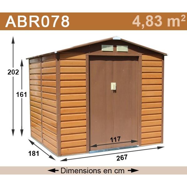 Abri jardin metal imitation bois - Châlet, maison et cabane