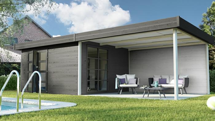 Cabane jardin moderne