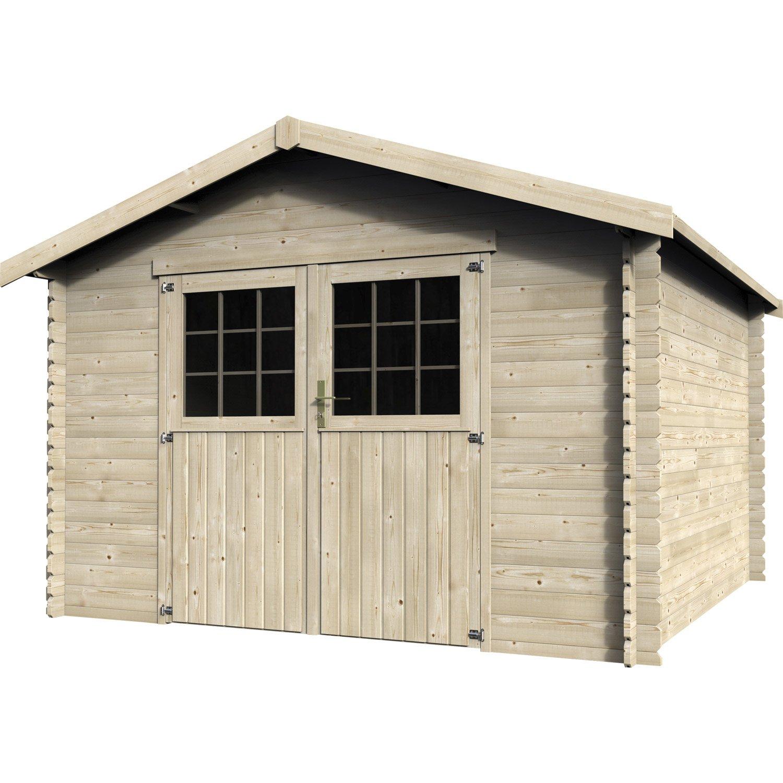 montage abri de jardin en bois castorama  châlet maison