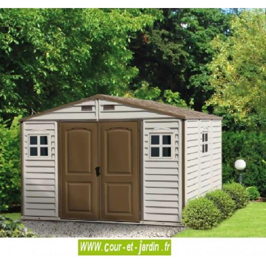 Abri de jardin en pvc woodstyle premium