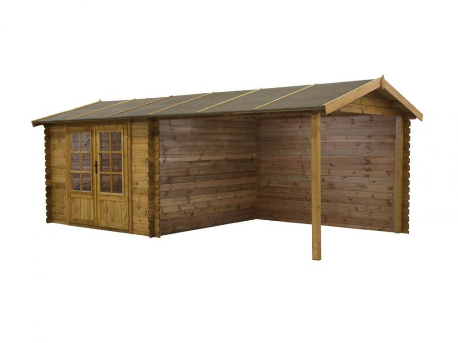 Abri jardin en bois traité