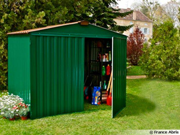 Abri jardin metal bois