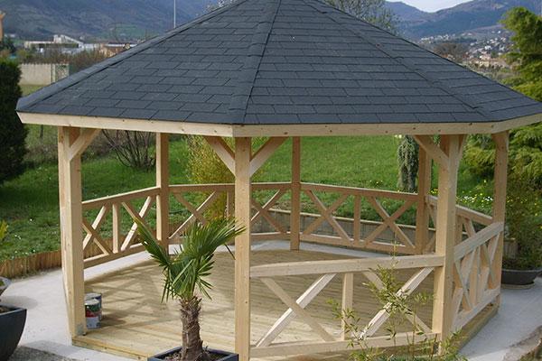 Abri de jardin en bois octogonal - Châlet, maison et cabane