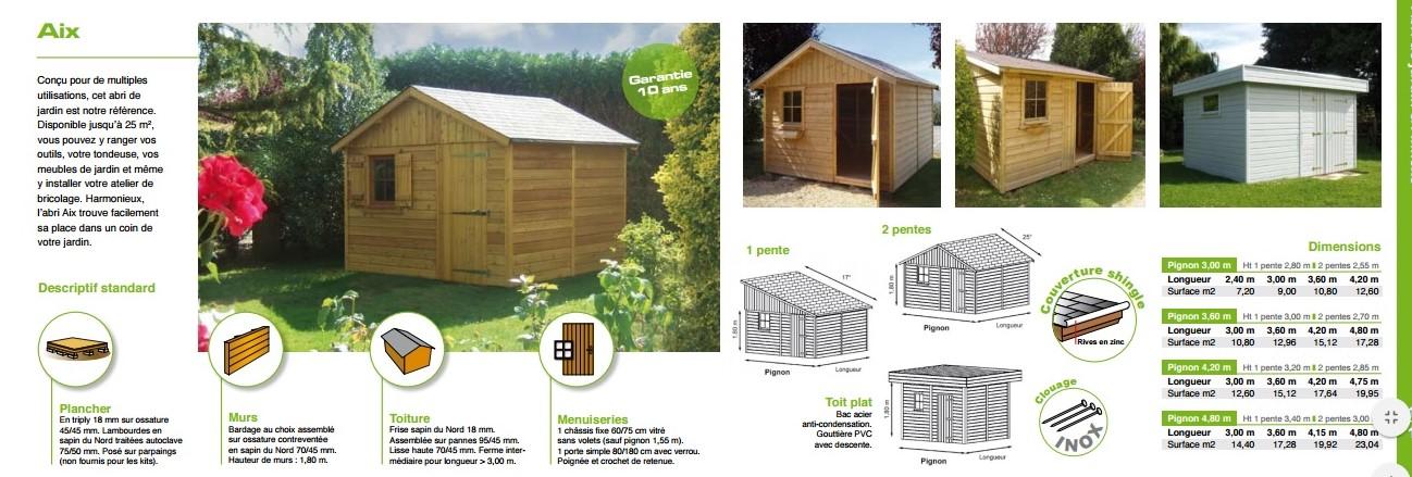 Abri de jardin en bois normandie - Châlet, maison et cabane