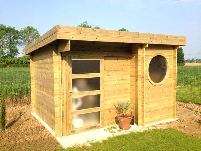 Abri de jardin en resine bricoman - Châlet, maison et cabane