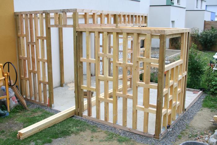 Abri jardin ossature bois toit plat - Châlet, maison et cabane