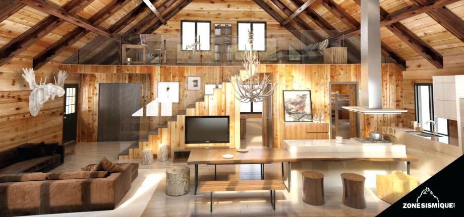 Chalet bois decoration interieur - Châlet, maison et cabane