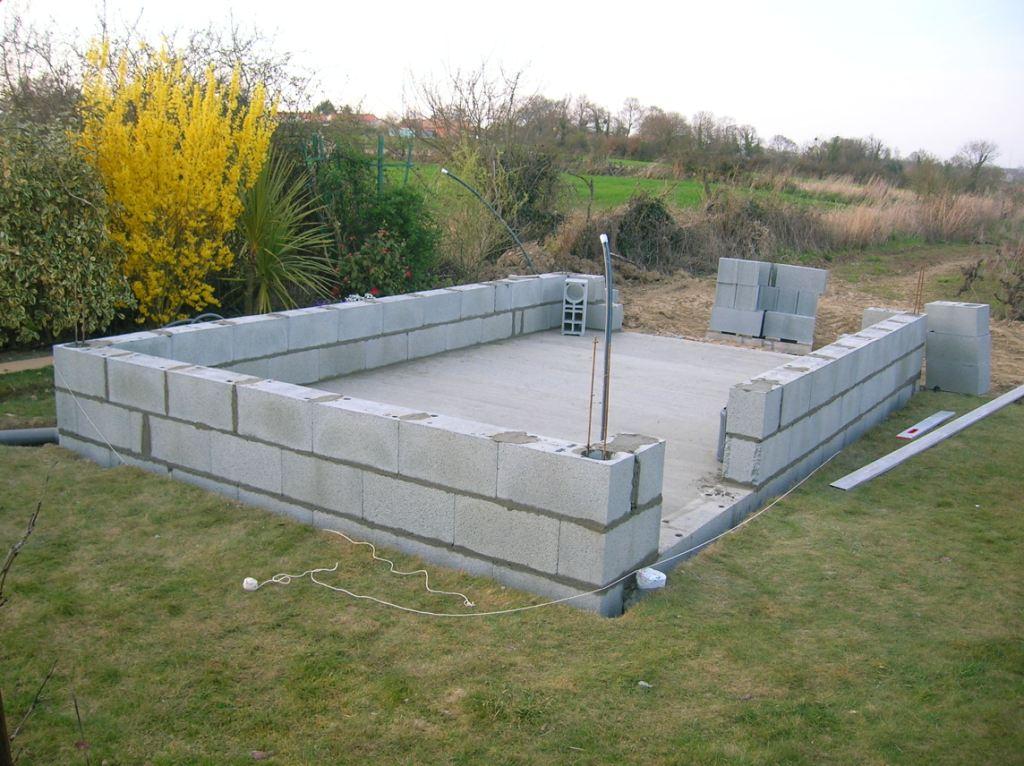Abri de jardin 20m2 beton - Châlet, maison et cabane