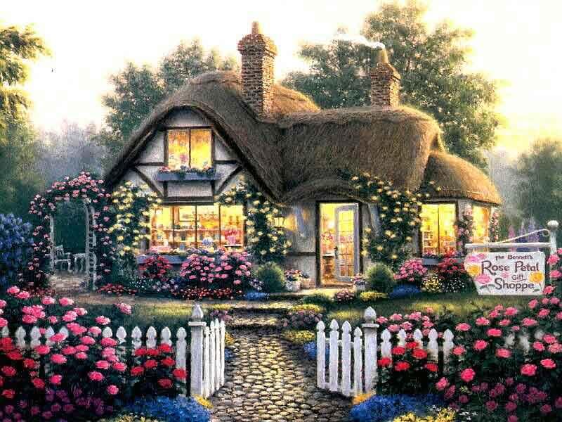 Cottage Anglais Peinture Chalet Maison Et Cabane