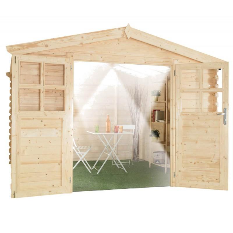 Abri de jardin pvc toit translucide