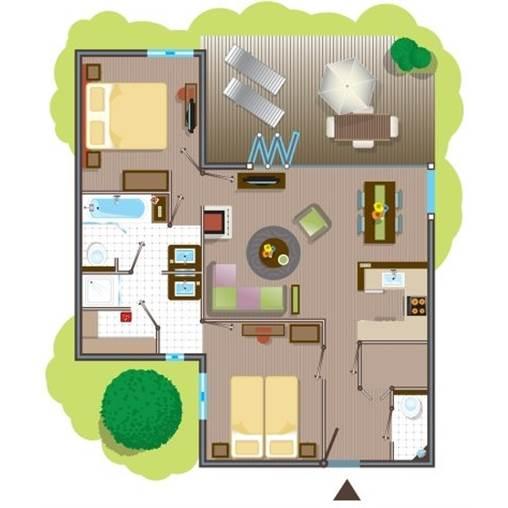 Plan cottage center parc les trois forets