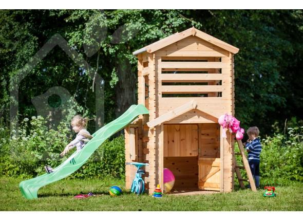 cabane de jardin avec toboggan ch let maison et cabane. Black Bedroom Furniture Sets. Home Design Ideas
