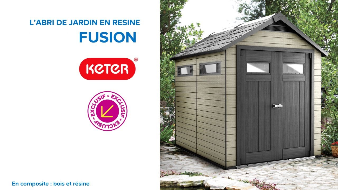 Abri de jardin keter fusion 759