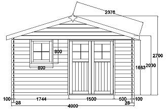 Plan d\'abri de jardin en bois gratuit - Châlet, maison et cabane