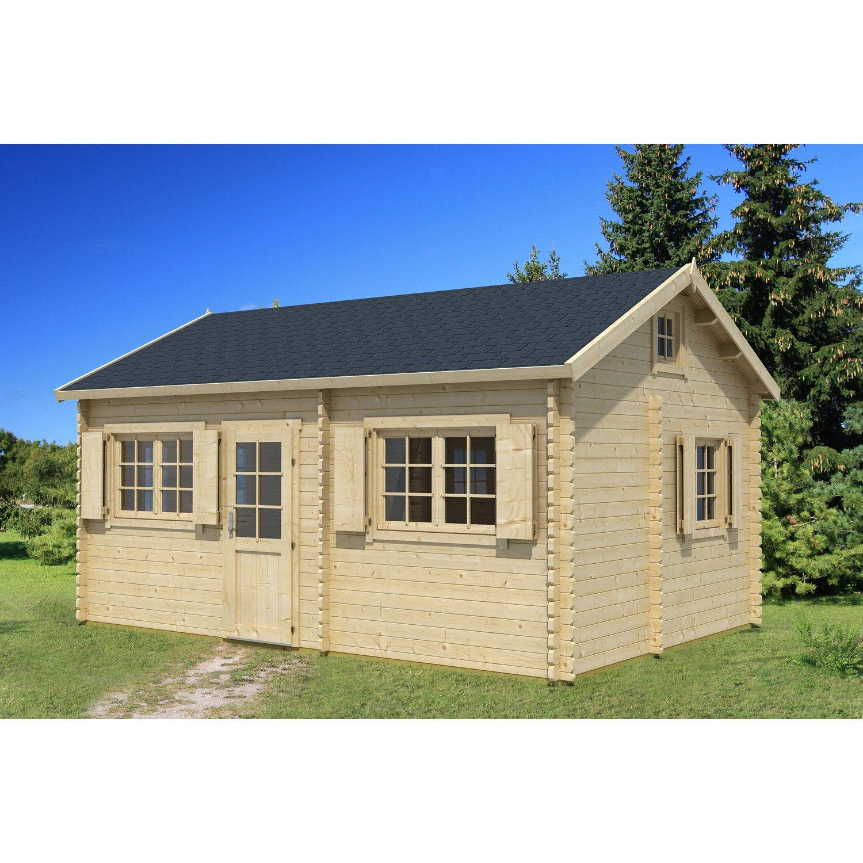 chalet bois habitable leroy merlin ch let maison et cabane. Black Bedroom Furniture Sets. Home Design Ideas