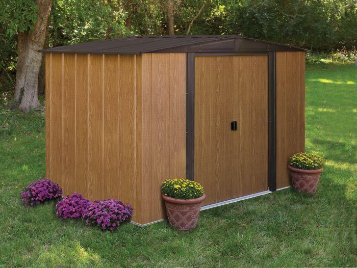 Abri jardin metal marron