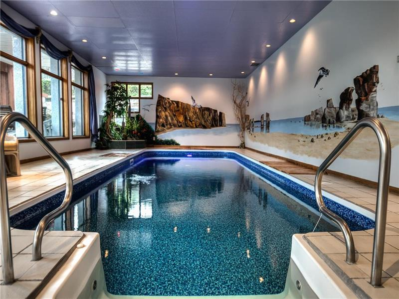 Chalet avec piscine intérieure