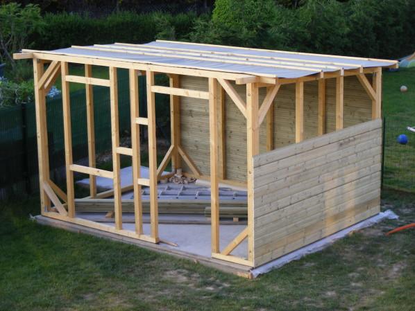 Plan chalet de jardin en bois