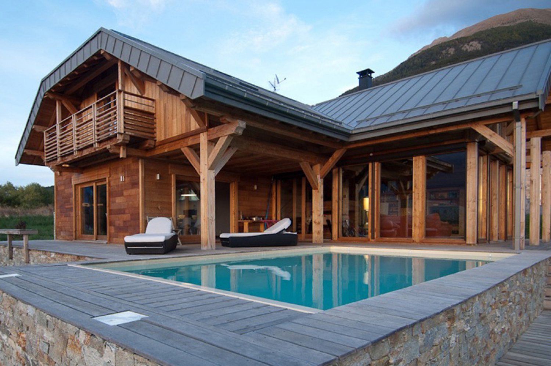 Chalet en bois moderne
