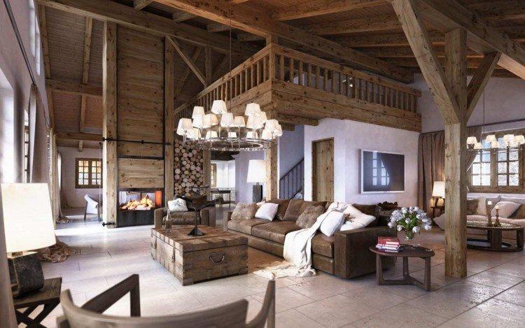Deco interieur chalet montagne - Châlet, maison et cabane