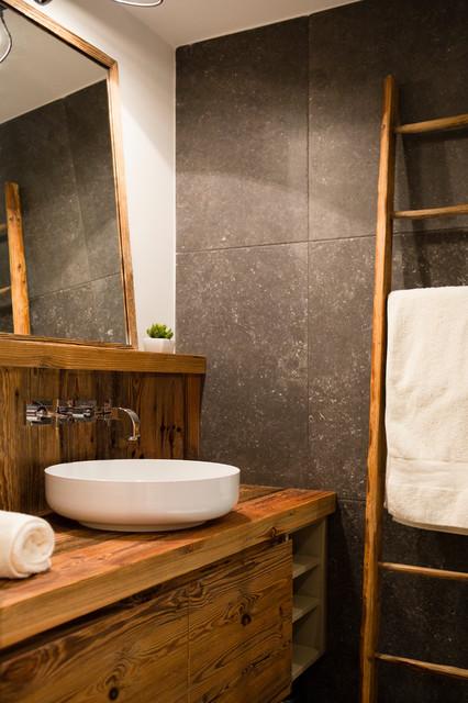 Salle de bain chalet montagne - Châlet, maison et cabane