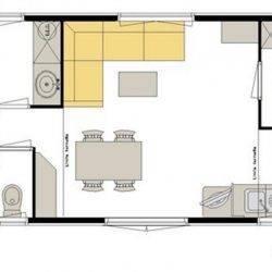 Plan chalet 40m2
