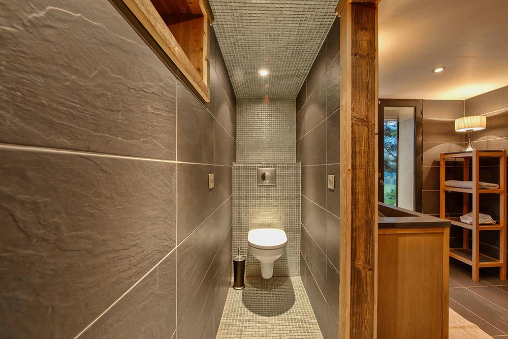 Salle de bain deco chalet