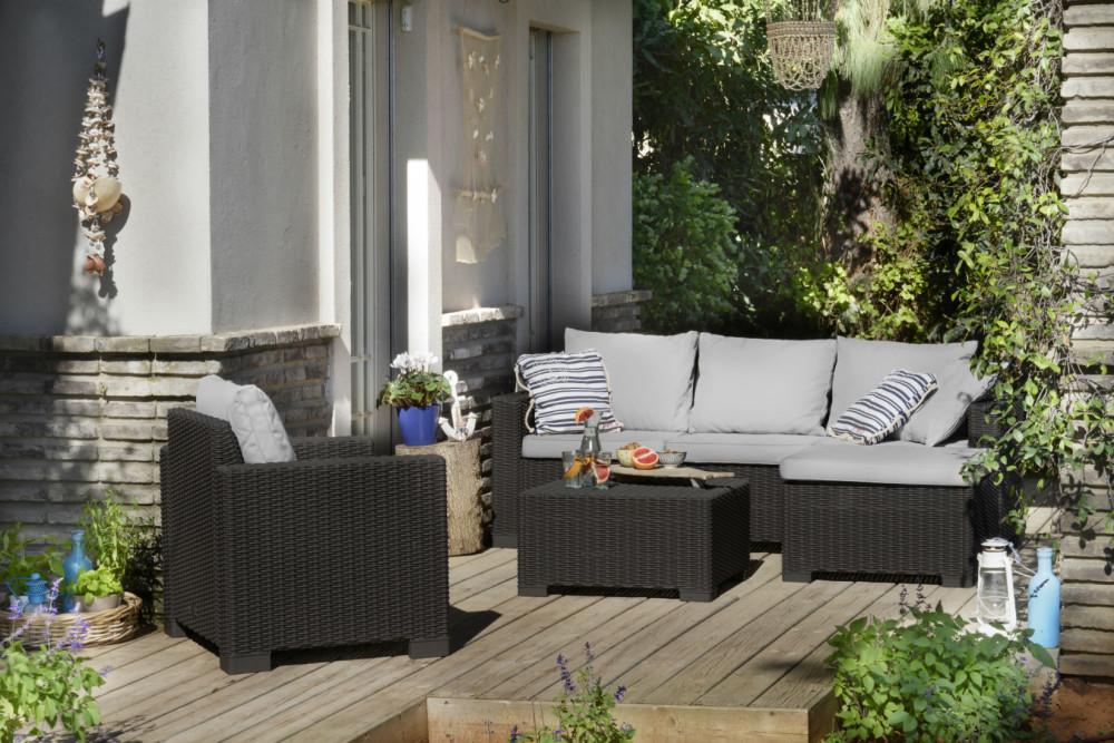 Salon de jardin allibert california lounge set