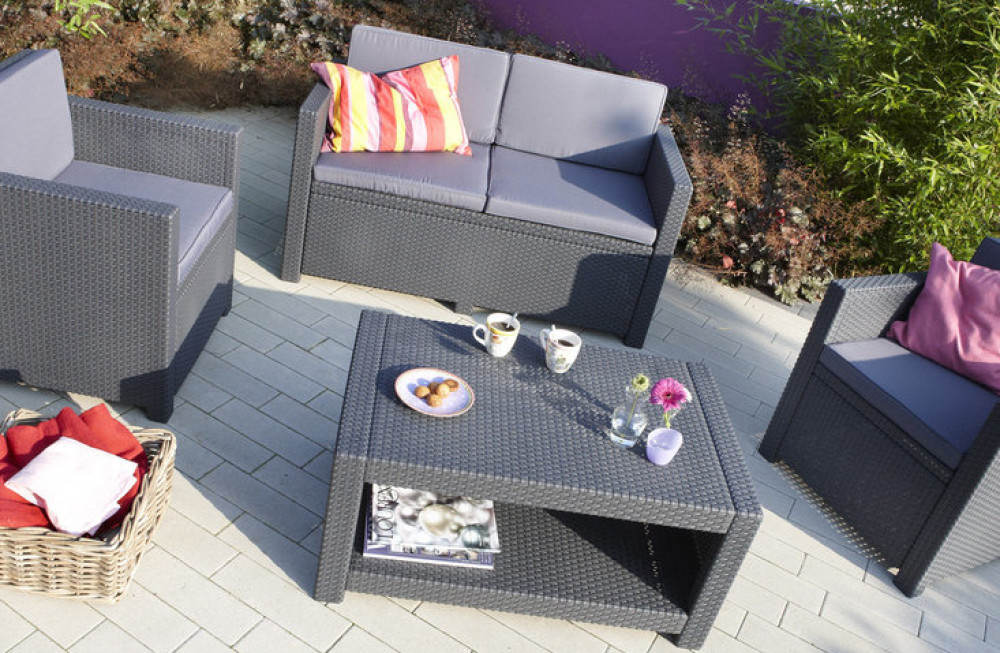 Salon de jardin lounge allibert