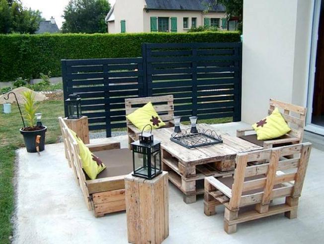 Idee salon de jardin original