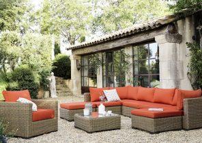 Emejing Salon De Jardin Avec Coussin Orange Contemporary ...