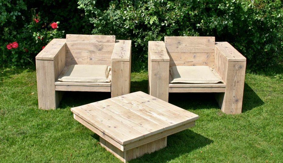 Salon de jardin design bois