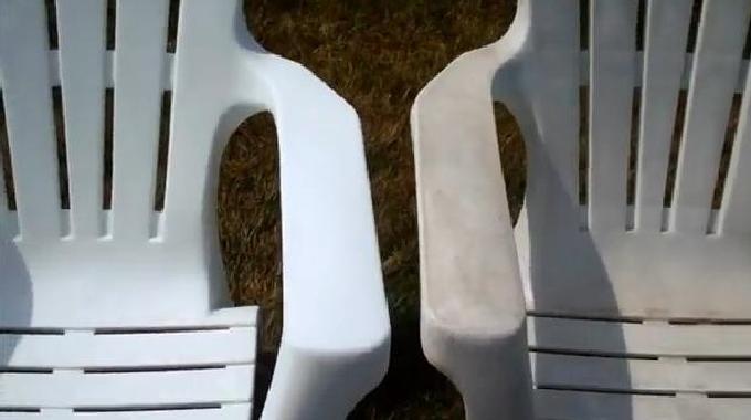 Nettoyer salon de jardin en plastique blanc - Châlet, maison ...