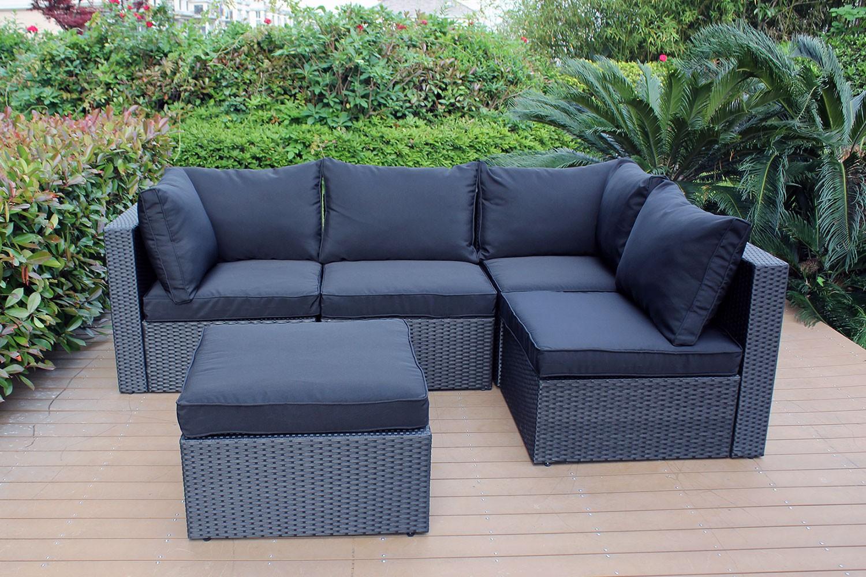 Salon de jardin modulable lounge