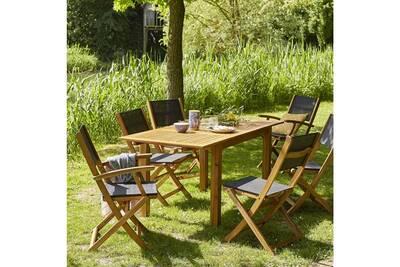 Salon de jardin bois brut - Châlet, maison et cabane