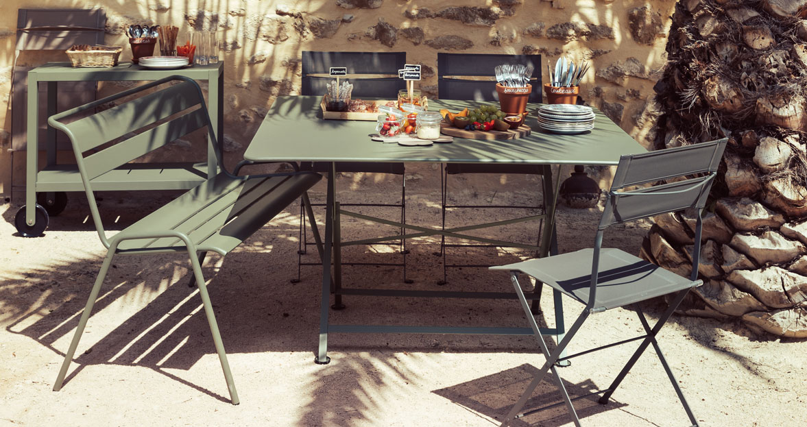 Salon de jardin en metal fermob