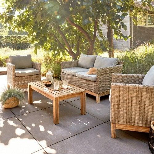 Salon de jardin lounge en bois