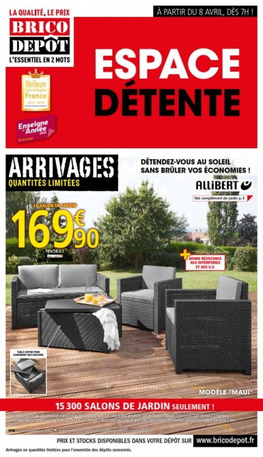 Avis salon de jardin allibert brico depot