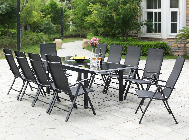 Chaise de salon de jardin en aluminium